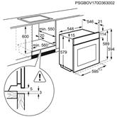 Iebūvējama elektriskā cepeškrāsns, AEG / tilpums: 71 L