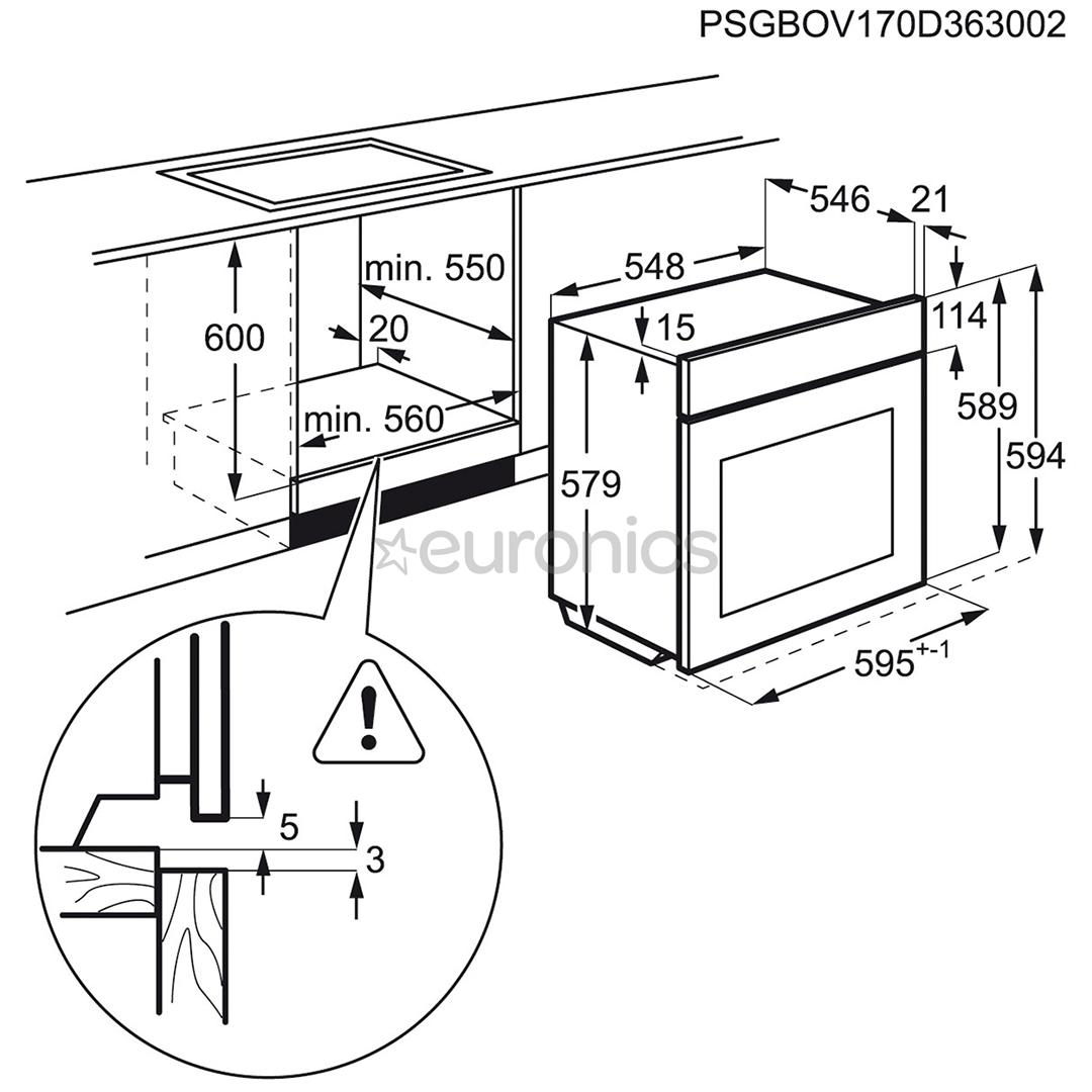 Интегрируемый духовой шкаф AEG (каталитическая очистка)