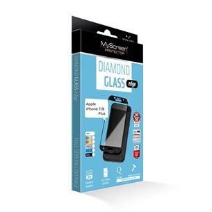 Aizsargstikls Diamond glass edge priekš iPhone 7/8 Plus, MSC