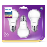 LED spuldze E27, Philips / 3 gab.