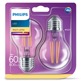 LED lamp Philips E27 (2 pcs)