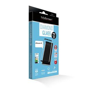 Screen protector Diamond glass edge for iPhone X, MSC