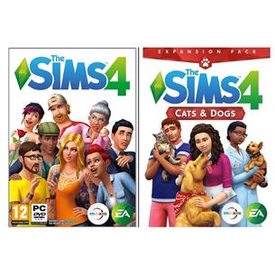 Spēle priekš PC, The Sims 4 + Cats and Dogs Bundle