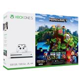 Spēļu konsole Microsoft Xbox One S (500 GB) Minecraft Complete Adventure Bundle