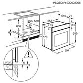 Iebūvējama elektriskā cepeškrāsns, Electrolux / tilpums: 60 L