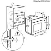 Iebūvējama elektriskā cepeškrāsns, AEG / tilpums: 70 L