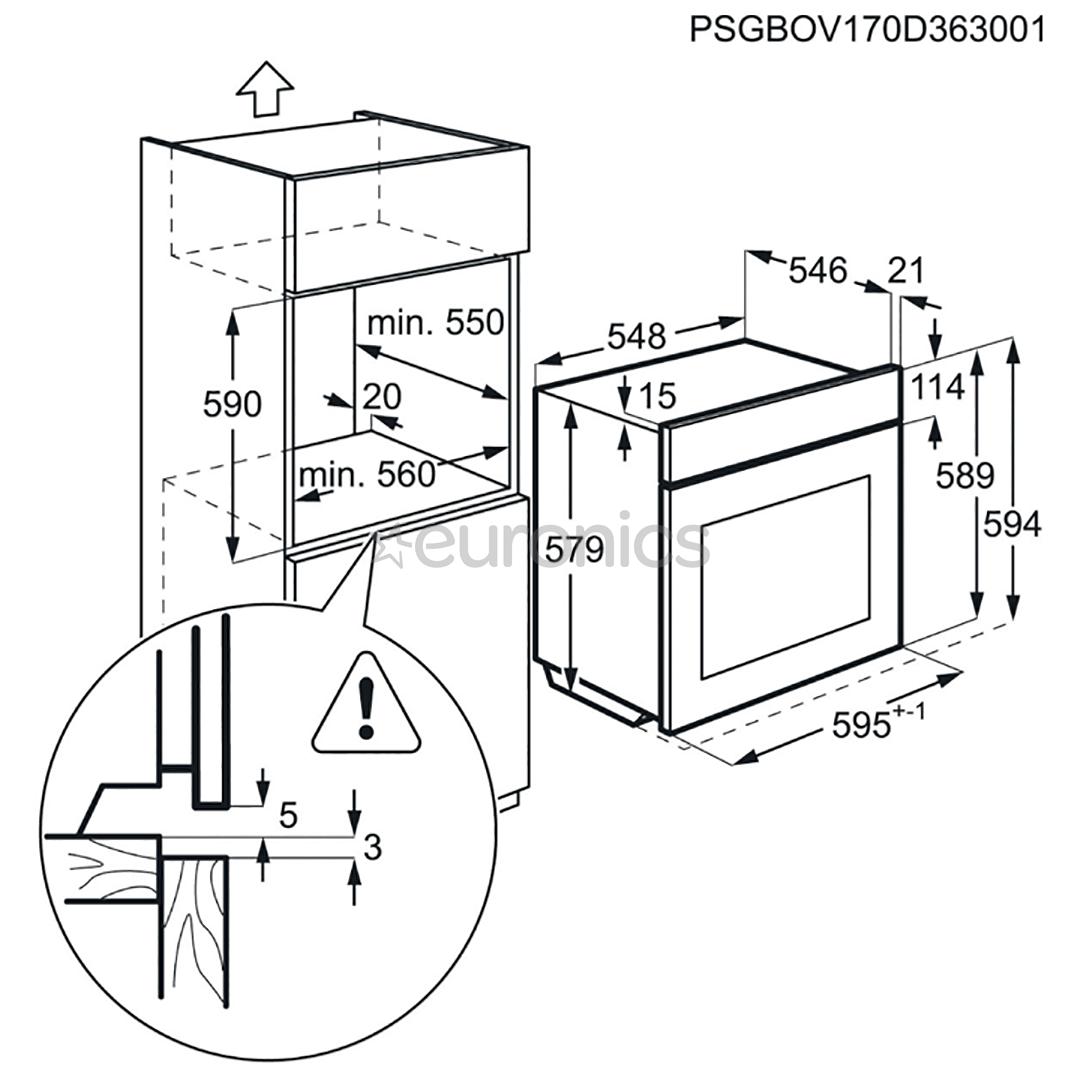 Интегрируемый духовой шкаф AEG (пиролитическая очистка)