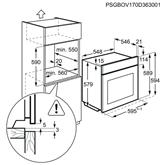Iebūvējama elektriskā cepeškrāsns, AEG (71 L)