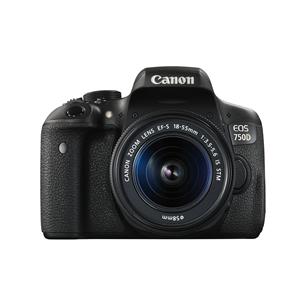 Digitālā fotokamera EOS 750D + objektīvs EF-S 18-55mm IS STM, Canon