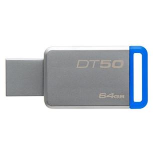 USB zibatmiņa DataTraveler 50, Kingston / 64 GB