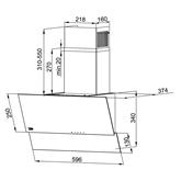 Tvaika nosūcējs, Beko / 305 m³/h