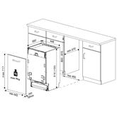Iebūvējama trauku mazgājamā mašīna, Beko / 10 komplektiem