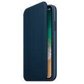 Ādas apvalks folio priekš iPhone X, Apple