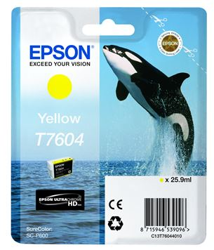 Tintes kārtridžs T7604, Epson / dzeltena
