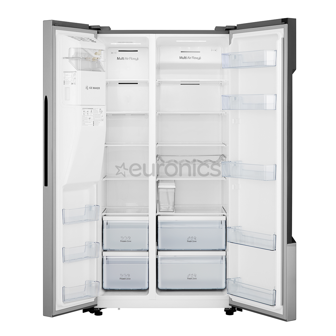 Side-by-Side Refrigerator, Hisense / height: 179 cm