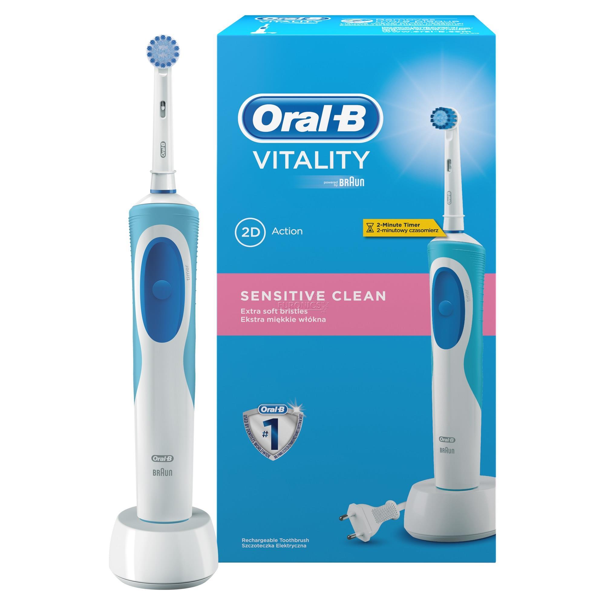 Electric toothbrush Oral B Vitality Sensitive, Braun, D12.513S