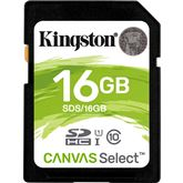 Atmiņas karte Canvas Select SDHC, Kingston / 16GB