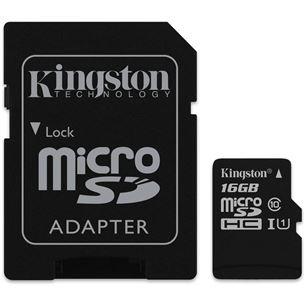 Atmiņas karte Canvas Select Micro SDHC, Kingston / 16GB