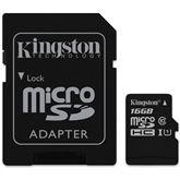 Micro SDHC Canvas Select memory card, Kingston / 16GB
