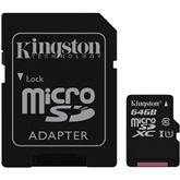 Micro SDXC Canvas Select memory card, Kingston / 64GB