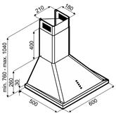 Tvaika nosūcējs, Hansa / 403 m³ / h