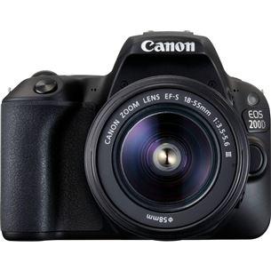 Digitālā spoguļkamera EOS 200D + objektīvs 18-55mm III EF-S, Canon