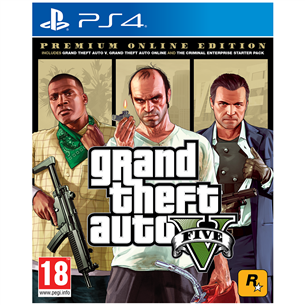 Игра для PlayStation 4, Grand Theft Auto V Premium Online Edition 5026555424271