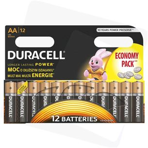 Baterijas AA, Duracell / 12 gab