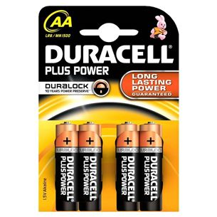 Baterijas AA Plus Power, Duracell / 4 gab