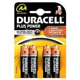 Baterijas AA Plus Power, Duracell / 4 gab
