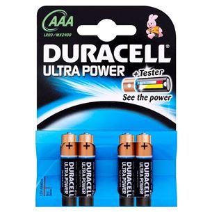 Baterijas AAA Ultra Power, Duracell / 4 gab