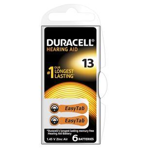 Baterijas dzirdes aparatam Hearing Aid 13, Duracell / 6 gab