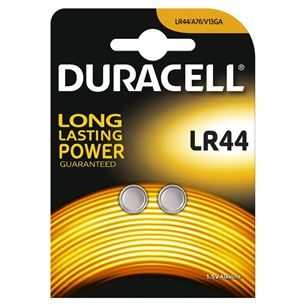 Baterijas LR44, Duracell / 2 gab