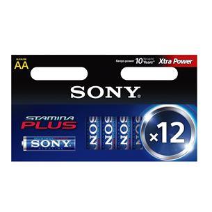 Baterijas AA Stamina Plus, Sony / 12 gab