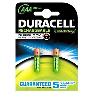 Lādējamās baterijas AAA, Duracell / 800mAh / 2 gab