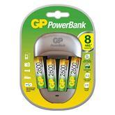 Lādētājs PowerBank + 4 baterijas, GP / 500 mAh