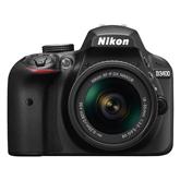 Digitālā spoguļkamera D3400 + objektīvs NIKKOR 18-55mm VR AF-P, Nikon