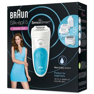 Epilators Silk-épil 5 SensoSmart Wet & Dry, Braun