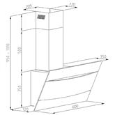 Tvaika nosūcējs, Hansa / 244 m³/h
