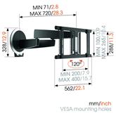 Sienas stiprinājums priekš 40-65 OLED televizora MotionMount, Vogels