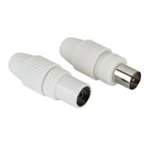 Coax plug and socket Hama