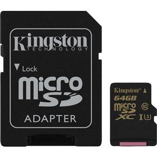 Atmiņas karte Gold Micro SDXC, Kingston / 64GB