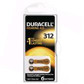 Baterijas dzirdes aparatam Hearing Aid 312, Duracell / 6 gab