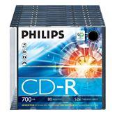 CD-R diski Philips slim, 1 gab.