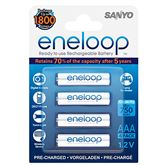 Rechargeable batteries AAA, Sanyo / 750mAh / 4 psc
