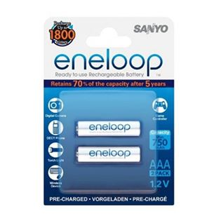Rechargeable batteries AAA, Sanyo / 750mAh / 2 psc