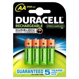 Lādējamās baterijas AA, Duracell / 2400 mAh / 4 gab