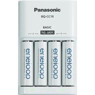 Lādētājs Basic Charger + 4 AA baterijas, Panasonic / 1900 mAh