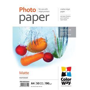 Fotopapīrs A4, ColorWay / 190 g/m2, 50 lpp