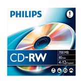 CD-RW diski Philips, 1 gab